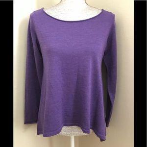 Eileen Fisher Ballet Neck Merino Wool Sweater